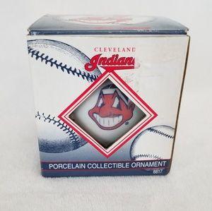 Vintage Cleveland Indians porcelain ornament